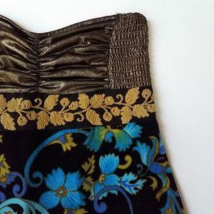 Free people velvet floral dress 8